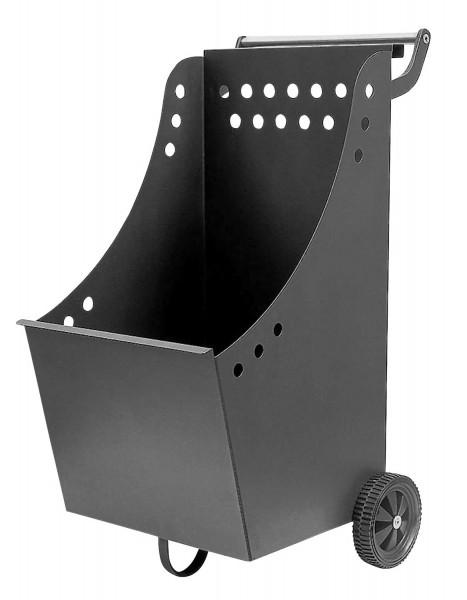 Kaminholz- und Pelletswagen Lienbacher aus Stahl, anthrazit beschichtet