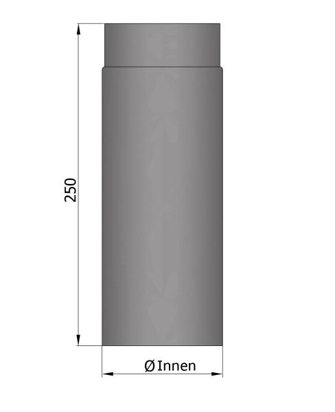 Rauchrohr Stahl 250 mm unlackiert