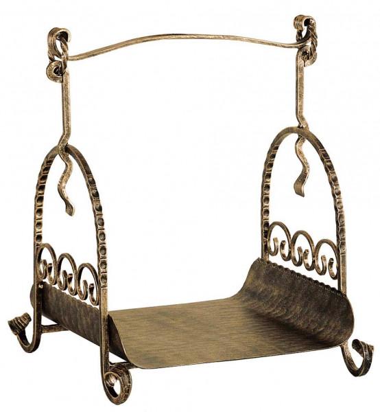 Holzkorb Heibi aus Schmiedeeisen, bronze