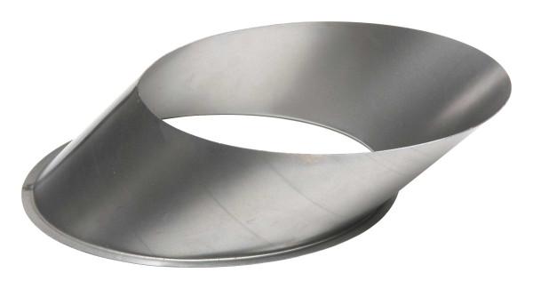 Wandfutter Rauchrohr Stahl Ø 150 mm unlackiert, gewinkelt