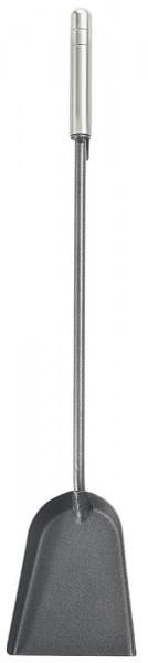 Kaminschaufel aus Stahl mit Edelstahlgriffen, anthrazit