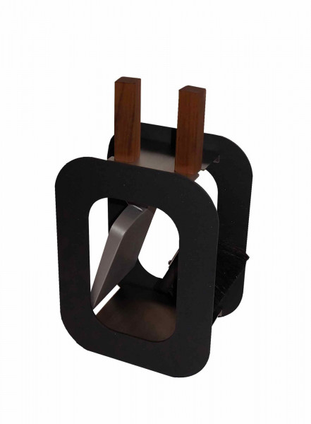Kaminbesteck Stahl klein Lienbacher CUBE schwarz, 2-teilig
