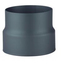Übergang Rauchrohr Stahl doppelwandig-einwandig Ø 150 mm schwarz - SM07-510