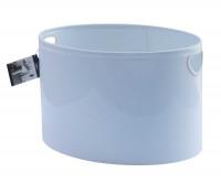 Holzkorb Stahl weiß, Oval 32 x 48 x 36 cm - SM50044212