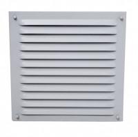 Außenluftgitter 21 x 21 cm mit Anschlussstutzen weiß - SMALGRW50