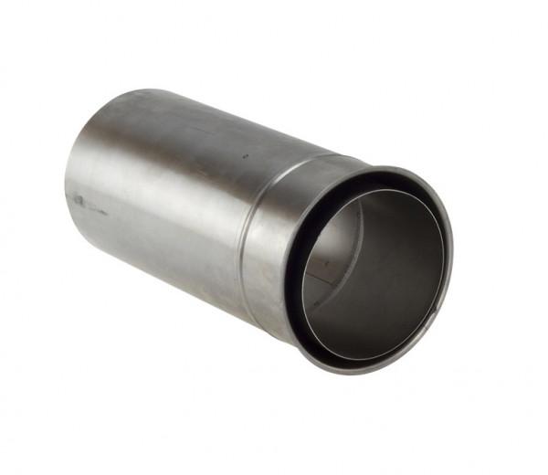 Doppelwandfutter Pellet-Ofenrohr Stahl 300 mm lang unlackiert