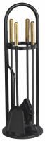 Kaminbesteck TANGO-5 aus Stahl, 4- teilig, schwarz - SM04.42.0040