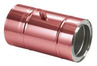 Schornsteinrohr 150 mm doppelwandig mit Messstutzen verkupfert - eka complex D 50 - SM3510113LM