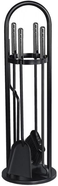 Kaminbesteck TANGO-6 aus Stahl, 4- teilig, schwarz