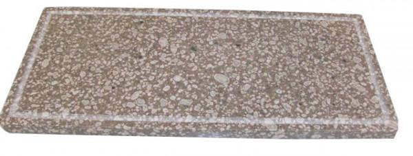 Pizzaplatte Speckstein mit umlaufender Nut 20,5 x 48,5 cm