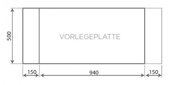 Vorlegeplatte gerade ESG Klarglas Nordpeis Kaminbausatz Panama