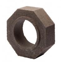 Keramik Modul Speicher 300 Rohr Halbteil 300 x 300 x 100 mm, Ø 180 mm - SM1603000