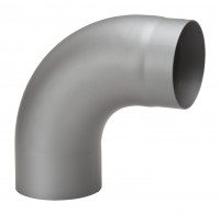 Rauchrohrbogen Stahl 90° Ø 150 mm hellgrau, gezogen - SM15-281