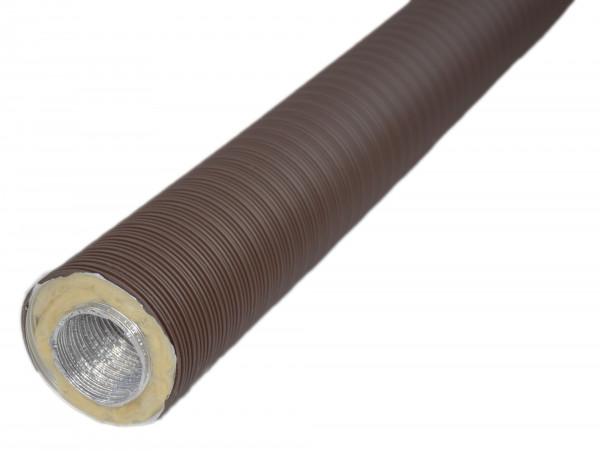 Aluflexrohr isoliert 0,8 m 5-lagig, braun