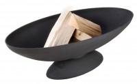 Feuerschale oval, Gusseisen, schwarz - SMFF132