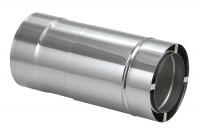 Längenausgleichsrohr 330-420 mm doppelwandig - eka complex D 25 - SM2250113LA