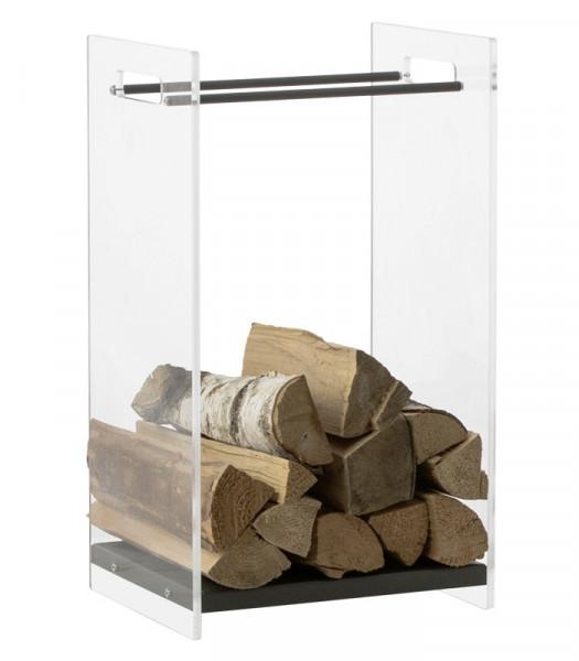 Kaminholzregal Glas Heibi, 66 x 37 x 35 cm