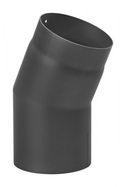 Rauchrohrbogen Stahl 22° schwarz