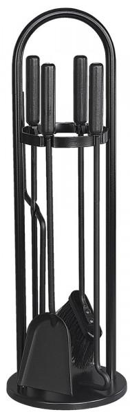 Kaminbesteck TANGO-3 aus Stahl, 4- teilig, schwarz