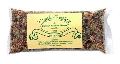 Peetz Fischgewürz Blau Sud für Karpfen und Forellen, 50 g
