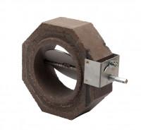 Keramik Modul Speicher 300 Rohr Halbteil mit Anheizklappe 300 x 300 x 100 mm, Ø 180 mm - SM1603006