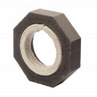 Keramik Modul Speicher 300 Anschlussstück auf Eisenrohr 300 x 300 x 70 mm, Ø 180 mm - SM1603010