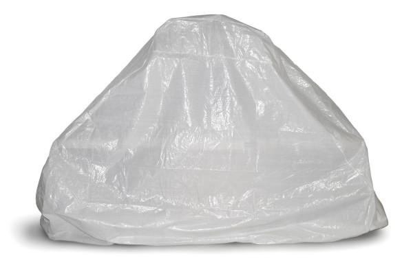 Grillkamin Abdeckhaube aus PE Gewebe weiß 220 x 250 x 92 cm