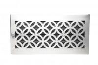 Warmluftgitter 45 x 23 cm schwarz Designblende D1 Edelstahl matt - SMWG4523d1esm