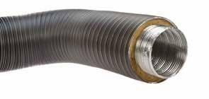 Aluflexrohr isoliert 0,8 m 5-lagig, grau