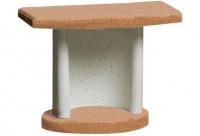 Beistelltisch GEORGIA für Buschbeck Grillkamine, terracotta-grau - SM105541