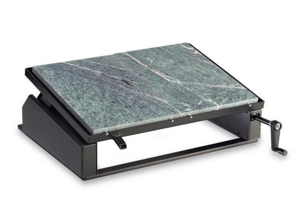 Pizzaplatte verstellbar mit Halterung 60 x 56 cm