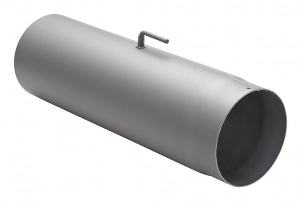 Rauchrohr Stahl 500 mm hellgrau mit Drosselklappe