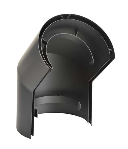 Hitzeschild doppelwandig für Rauchrohrbogen Stahl 45° Ø 150 mm schwarz