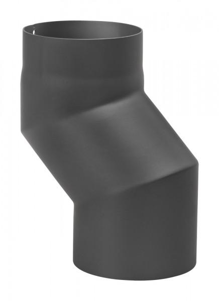 Versatzbogen Rauchrohr Stahl 120 mm Ø 150 mm schwarz
