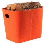 Holzkorb aus Filz, orange - SM98-243