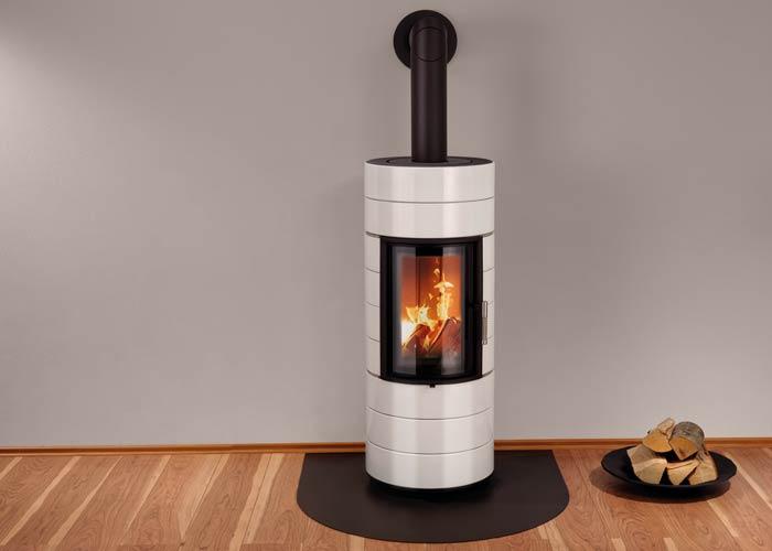 Extrem Kaminofen Leda COLONA lite weiß emailliert 6 kW kaufen | CAFIRO® FL38