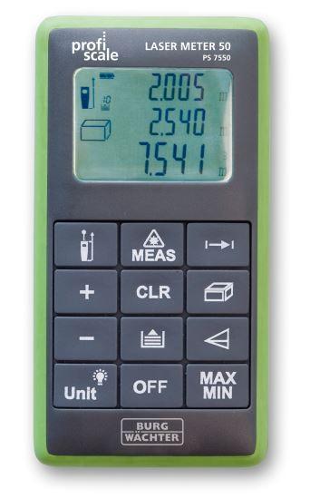 Laserentfernungsmessgerät Burg-Wächter LASER METER 50 PS 7550