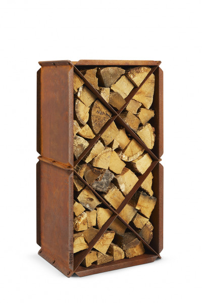 Brennholzregal Corten-Stahl RB73 BloXX