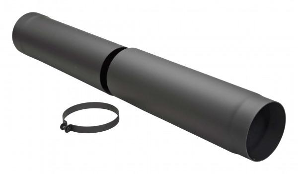 Teleskop-Rauchrohr Stahl 590-900 mm schwarz