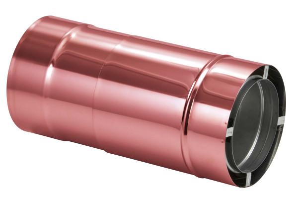 Längenausgleichsrohr 420-620 mm doppelwandig verkupfert - eka complex D 50