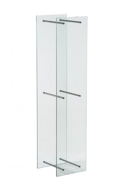 Kaminholzregal aus Glas, 140 x 33 x 30 cm