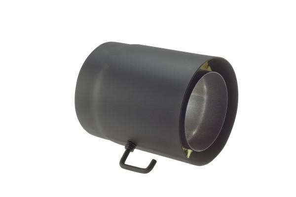 Rauchrohr Stahl Doppelwandig 250 Mm O 150 Mm Schwarz Drosselklappe