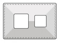 Kaminabdeckplatte Beton zweizügig mit eckigen Ausschnitten - SM1008695