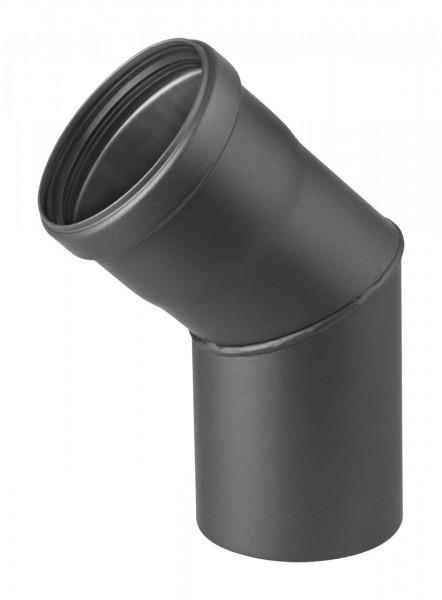 Pellet-Ofenrohrbogen Stahl 45° schwarz