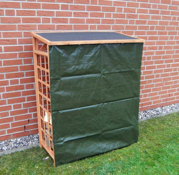 Promadino Brennholzregal ROMA inkl. Wetterschutz, 147,5 x 119,5 x 66 cm