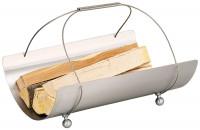 Holzkorb COLLO-3 aus Edelstahl mit Trageseilen - SM04.57.0130