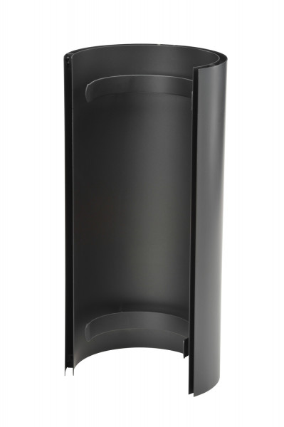 Hitzeschild doppelwandig für Rauchrohr Stahl 460 mm Ø 150 mm schwarz