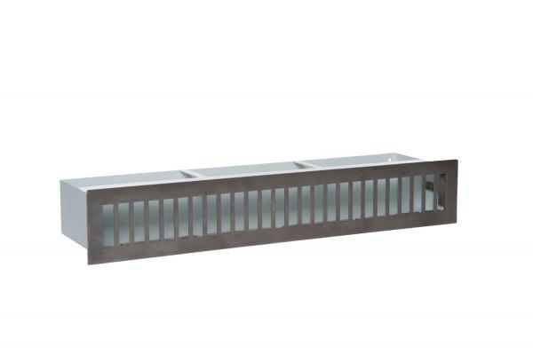 Design-Blende D2 für Luftleiste Edelstahl