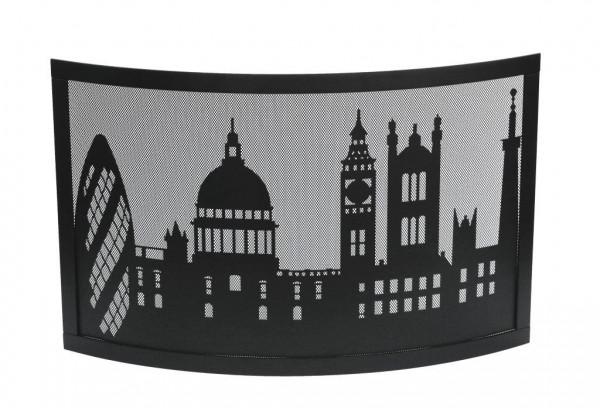 Kamingitter Stahl LONDON Lienbacher, schwarz