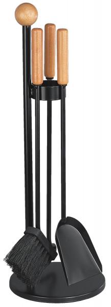 Kaminbesteck SIBA-1 aus Stahl, 3- teilig, schwarz